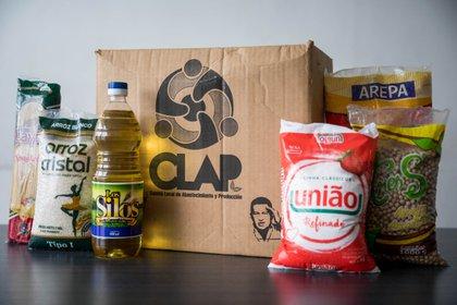 Una caja CLAP (EFE / Miguel Gutiérrez / Archivo)