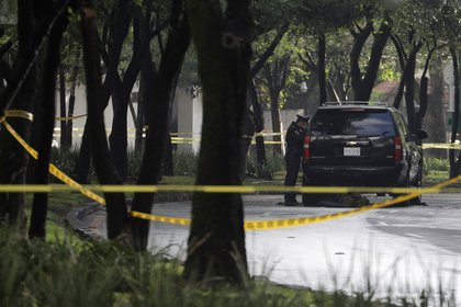 Desde que ocurrió el ataque, Harfuch indicó al CJNG como responsable Foto: REUTERS / Luis Cortes