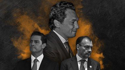 Lozoya Austin, Peña Nieto y Videgaray Caso (Arte de la foto: Jovani Pérez Silva)