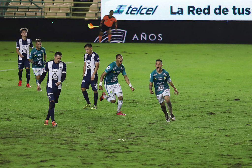 Leon vs Rayados (1-0).  Luis Montes salvó la noche con un gran gol