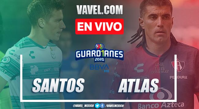 Resumen: Santos 0-0 Atlas en Liga MX 2020 |  16/08/2020